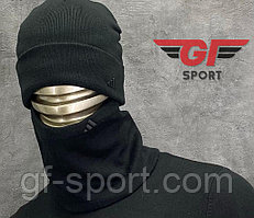 Шапка + шарф Adidas черная