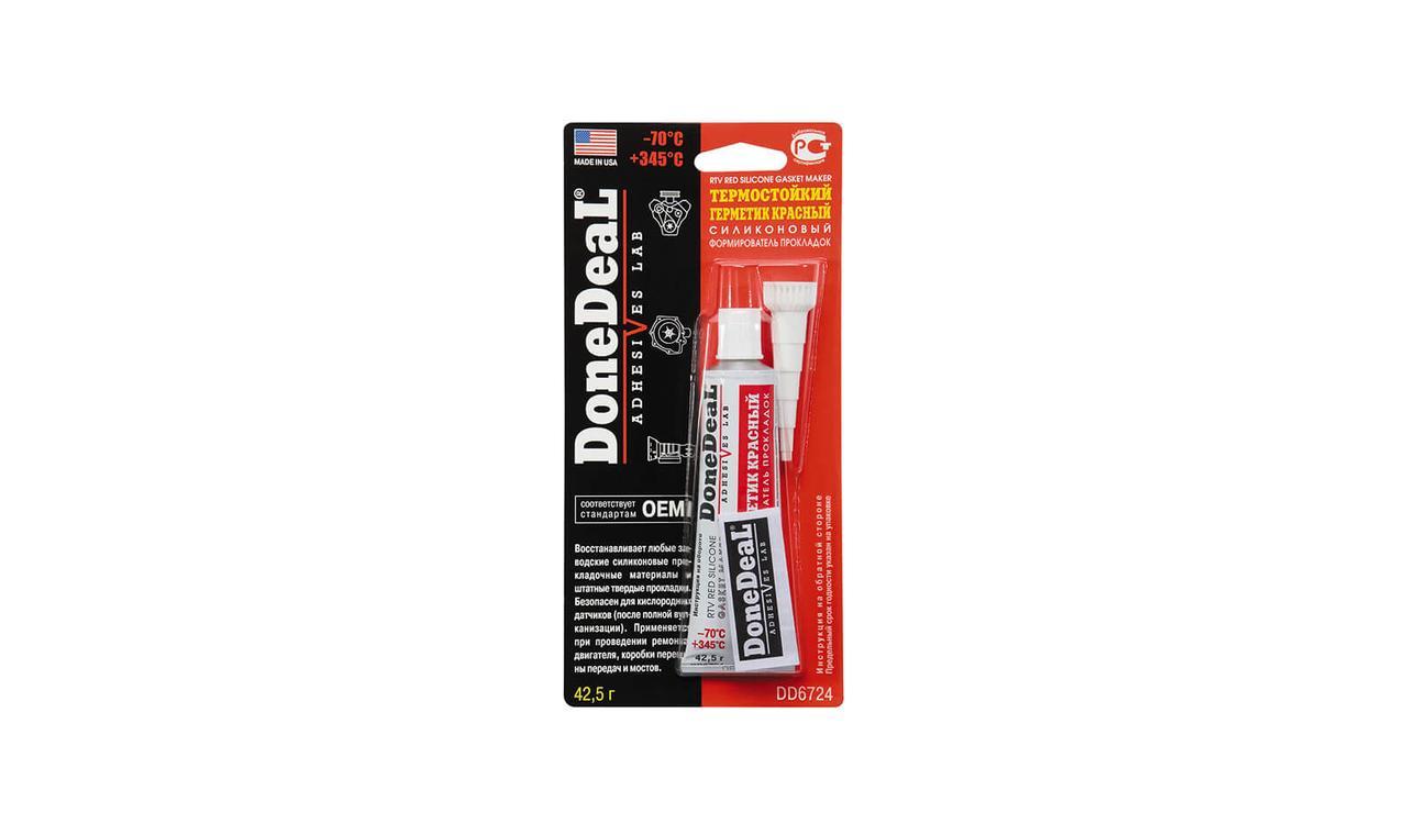 Герметик DONE DEAL термостойкий красный 42.5гр. DD6724