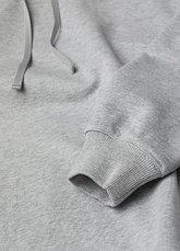 Худи однотонный серый oversize, фото 3