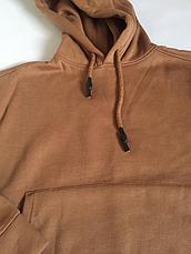 Худи однотонный коричневый oversize, фото 2