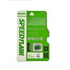 Карта памяти Micro SD 4Gb Remax Speed Flash class 4