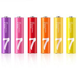 Батарейка Xiaomi Zi7 AAA Rainbow Battery Alkaline LR03 10шт, штучно