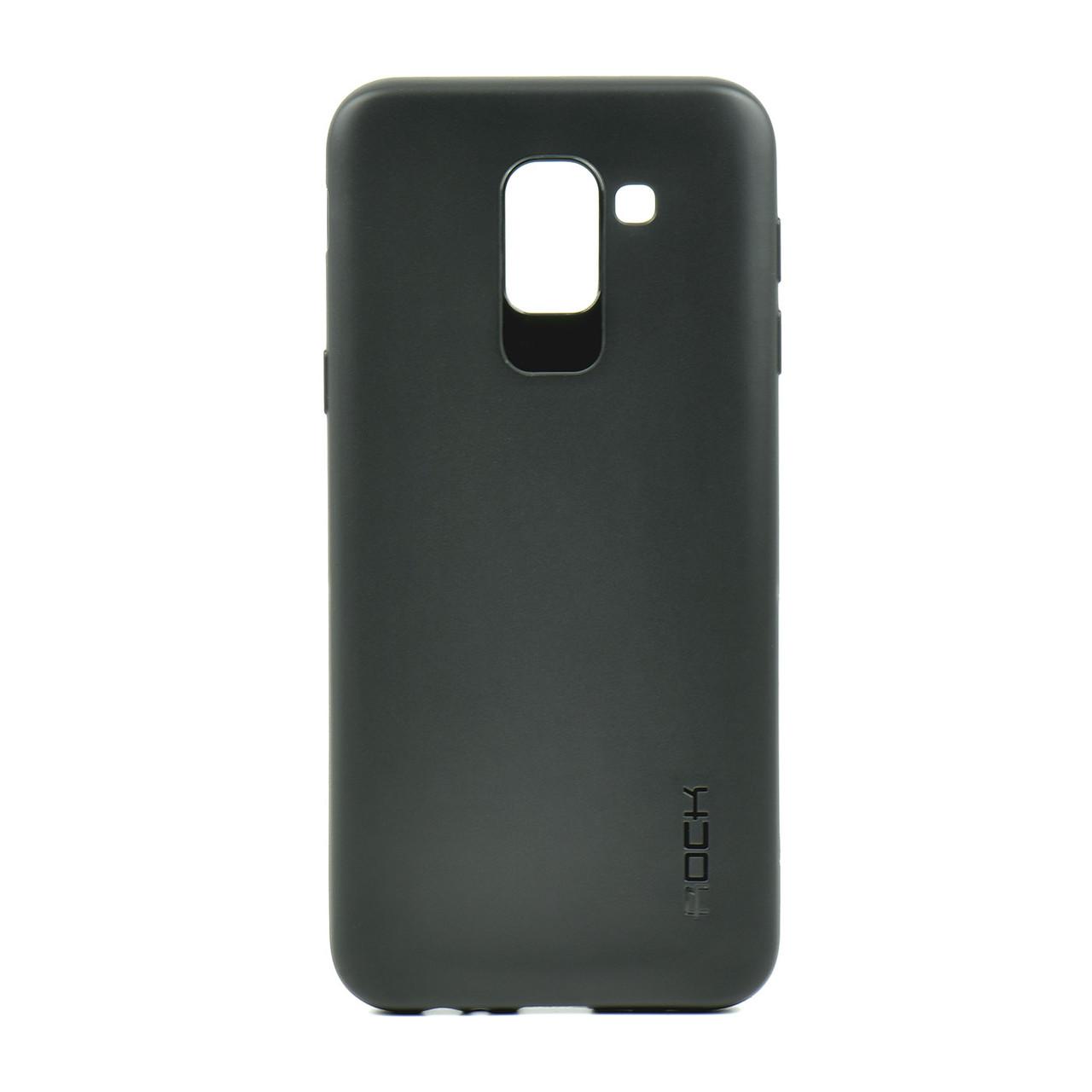 Чехол для Samsung Galaxy J6 (2018) J600 back cover gel Rock mate Black OEM