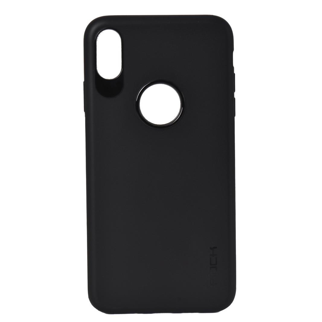 Чехол для Apple iPhone XS Max (6.5*) back cover gel Rock mate Black OEM