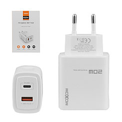 Сетевое зарядное устройство Moxom MX-HC66, PD-20W, QC-18W, White