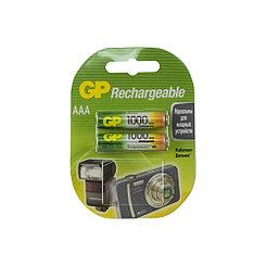 Аккумулятор GP, AAA, 1.2V, 2X1000mAh
