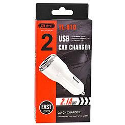 Автомобильное зарядное устройство BYZ YL-810 2.1A - 2XUSB White