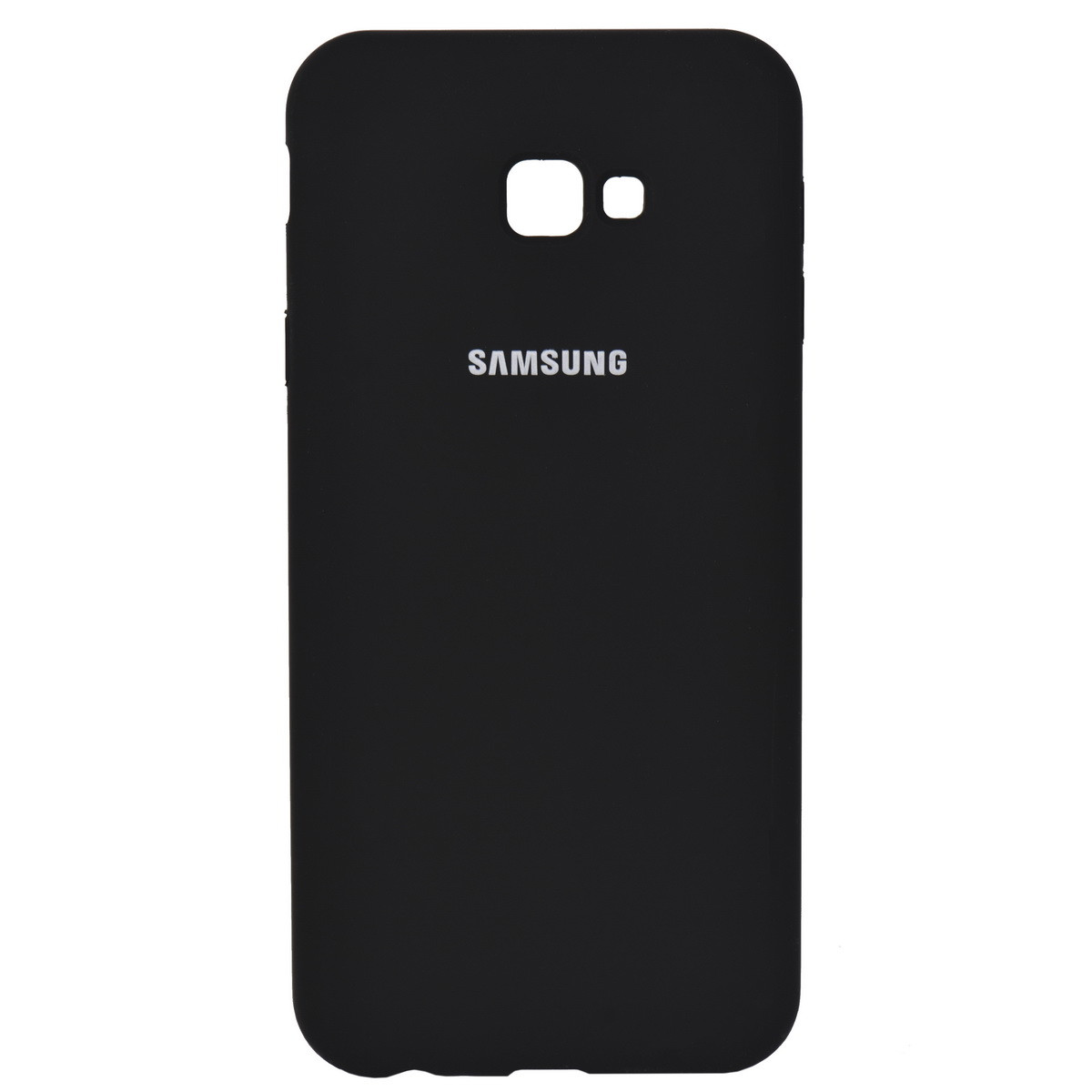 Чехол для Samsung Galaxy J4 Plus (2018) J415 back cover Silky and soft-touch Silicone Cover Black