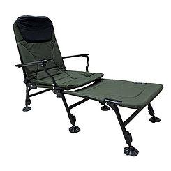 Раскладное кресло с подлокотниками и подставкой для ног Hong BO , Green