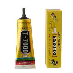 Клей Zhan Li Da T-7000 для склеивания тачскринов с рамками чёрный 110мл