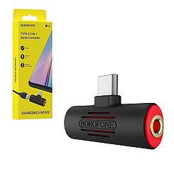 Цифровой аудио конвертер Borofone BV8, Type-C, Type-C to Jack 3.5mm, Black