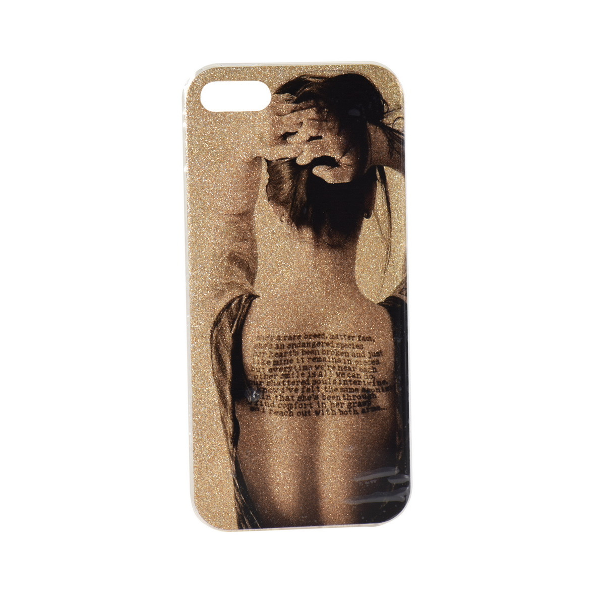 Чехол для Apple iPhone 5/5S/5SE back cover Woman Shine Gel Gold