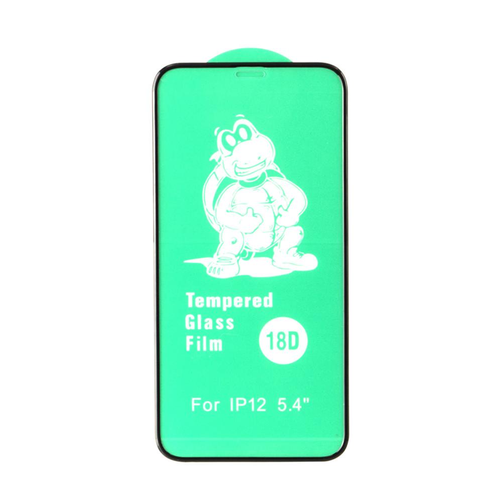 Защитное стекло Apple iPhone 12 Mini (5.4*) 3D Soft Edges Green Turtle, Black