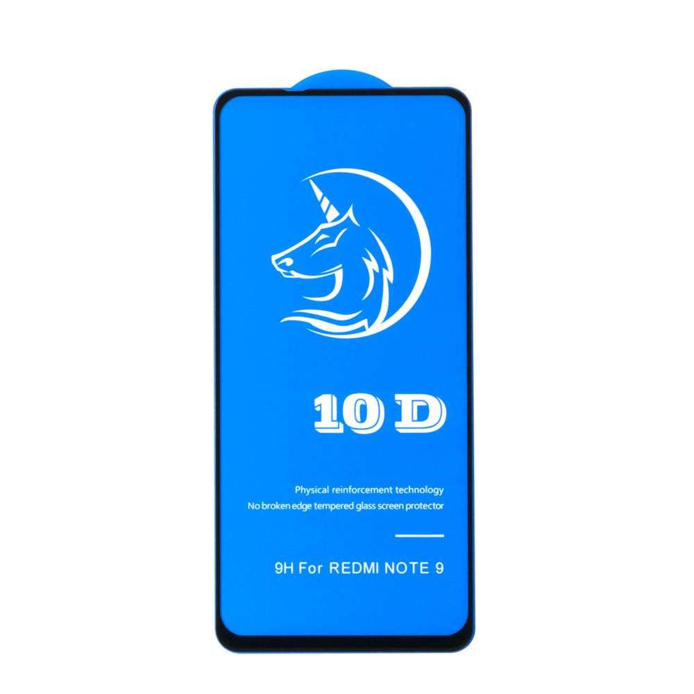 Защитное стекло Xiaomi Redmi Note 9 3D Full Glue frame 10D+ OEM (AL), Black