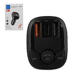 FM-Модулятор Bluetooth Rock B301, QC 3.0,PD36W, Black