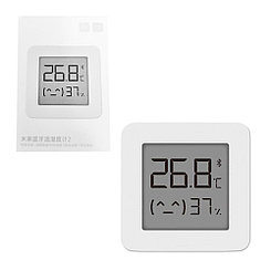 Датчик температуры и влажности термометр-гигрометр Xiaomi Mi 2 (NUN4106CN), White