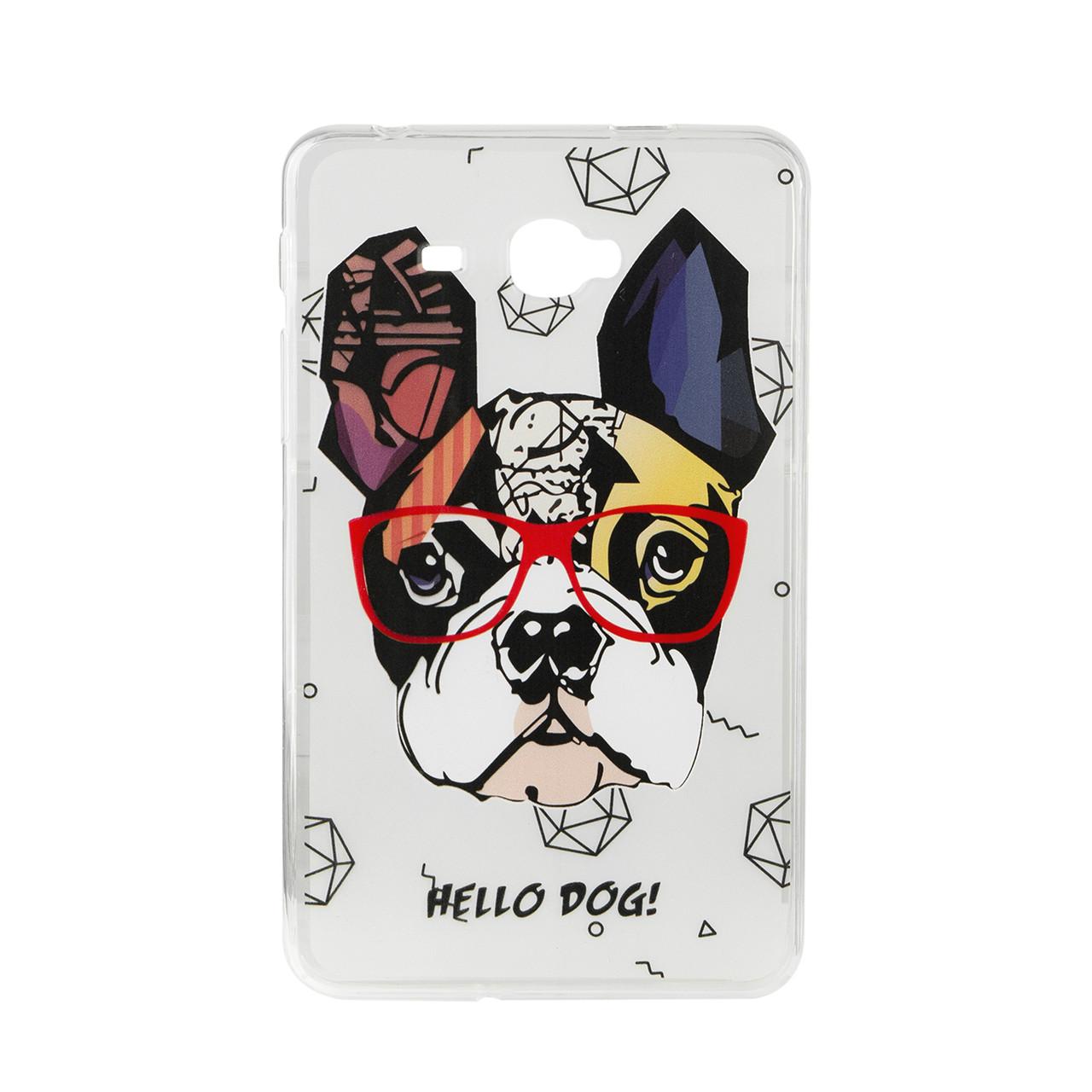 Чехол для Samsung Galaxy Tab A 7.0 SM-T285 back cover TPU Hu Ang Hello Dog, Clear