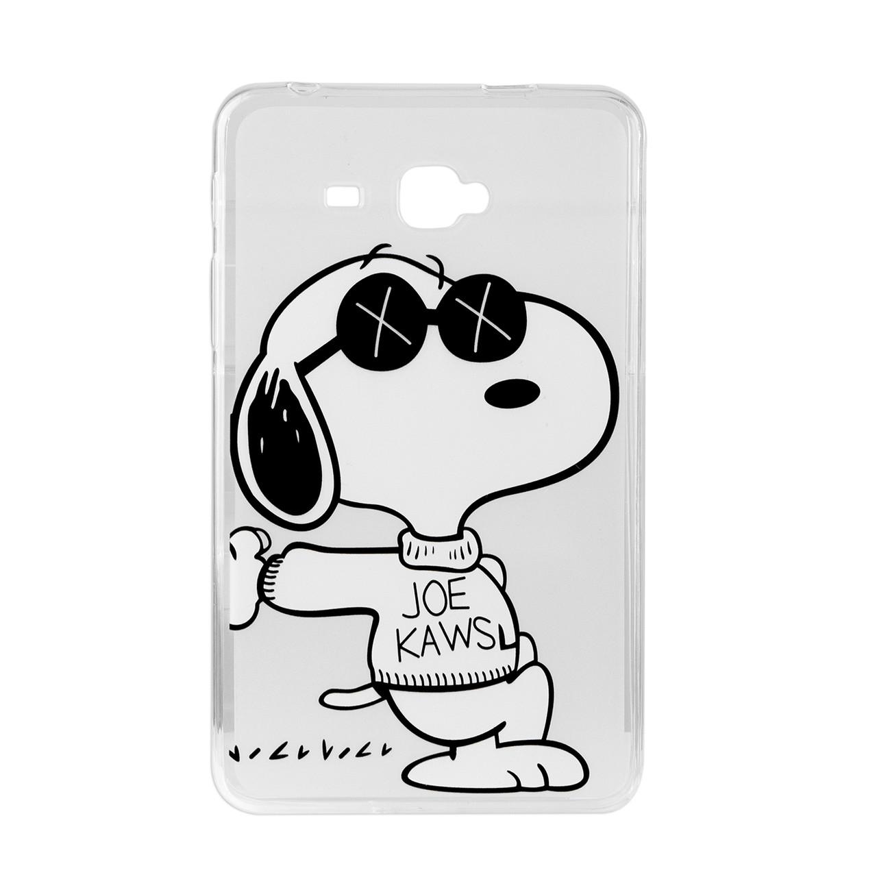 Чехол для Samsung Galaxy Tab A 7.0 SM-T285 back cover TPU Hu Ang Snoopy, Clear