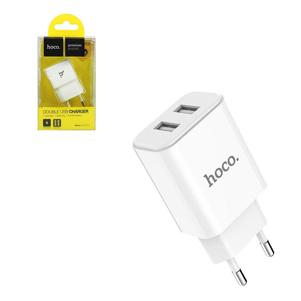 Сетевое зарядное устройство Hoco UH202 2XUSB 2.1A White