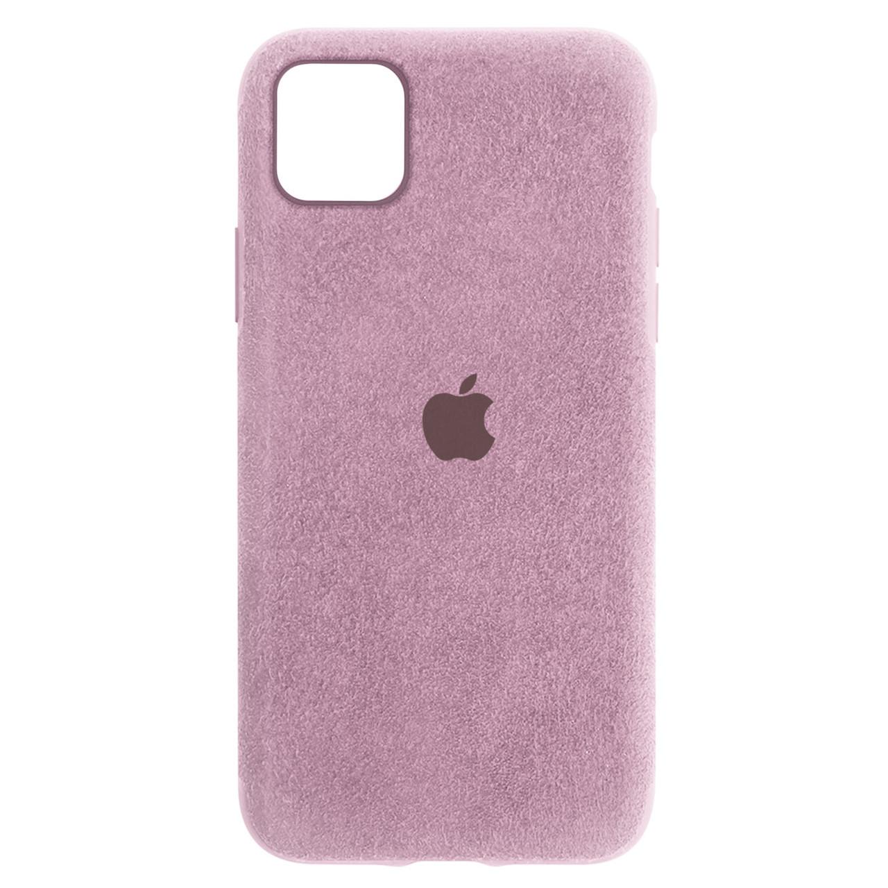 Чехол для Apple iPhone 11 Pro Max (6.5*) back cover Alcantara Cover Pink