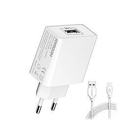 Сетевое зарядное устройство Joyroom L-M213 с кабелем lightning 5V/2.4A 1m