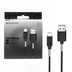 Кабель Apple lightning Borofone BX11 1m, Black
