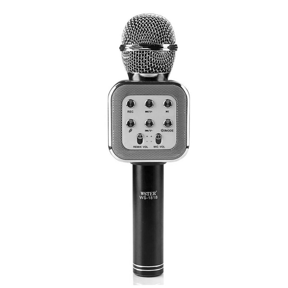 Микрофон караоке Bluetooth WS-1818, Black