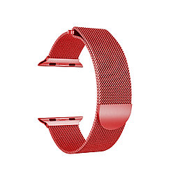 Ремешок For Apple Watch 38mm/40mm Bikson Magnetic Milanese Loop, Red