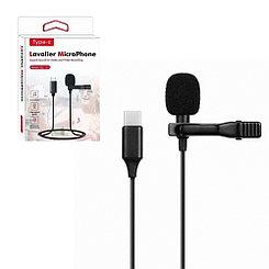 Микрофон петличка, Gl-121, Type-C, Black