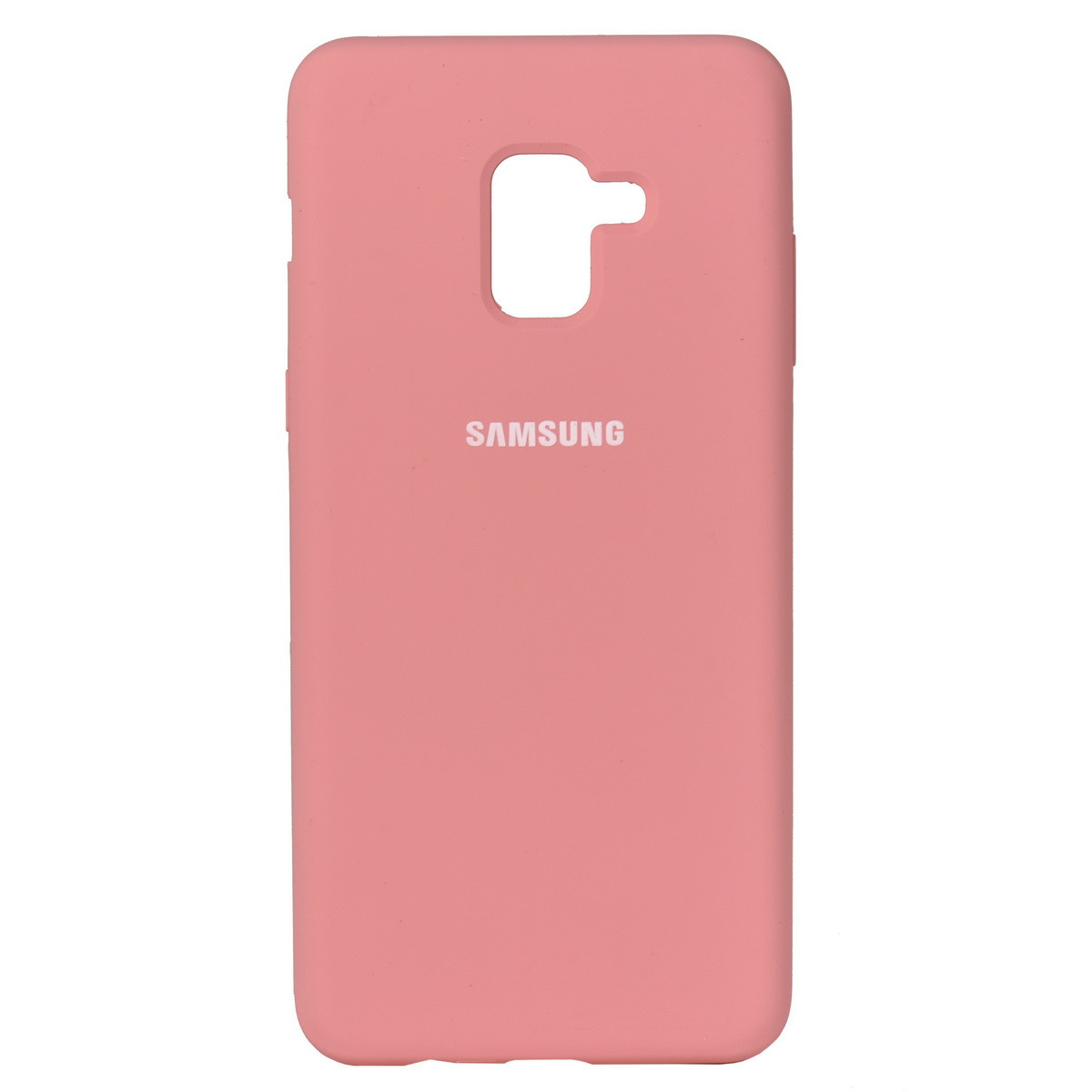Чехол для Samsung Galaxy A8 Plus (2018) A730 back cover Silky and soft-touch Silicone Cover Pink