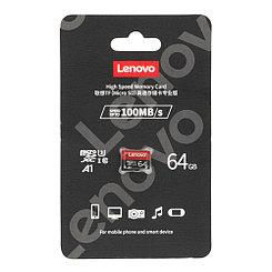 Карта памяти Micro SD U3  XC A1 64Gb Lenovo class 10