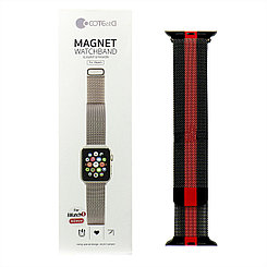 Ремешок For Apple Watch 38mm/40mm COTEetCI W6 WH5202-BR Magnet Band Black/Red
