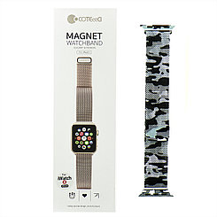 Ремешок For Apple Watch 38mm40mm COTEetCI W6 WH5202-TK Magnet Band, Camouflage Gray/Black