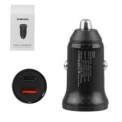 Автомобильное зарядное устройство Samsung Type-C 25W, 1XUSB 15W, Black