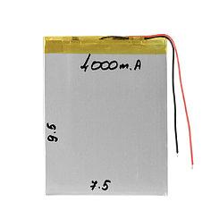 Аккумулятор универсальный (7.5cm 9.5cm 3.5cm) 4000mAh 3.7V GU Electronic