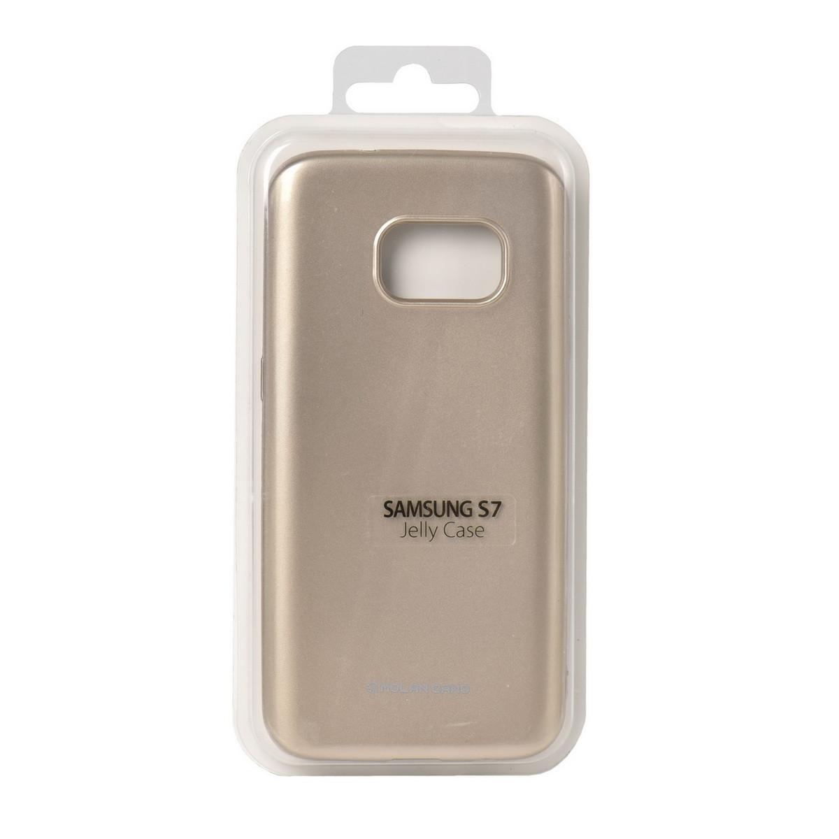 Чехол для Samsung Galaxy S7 G930 back cover Molan Cano Jelly Case Gold