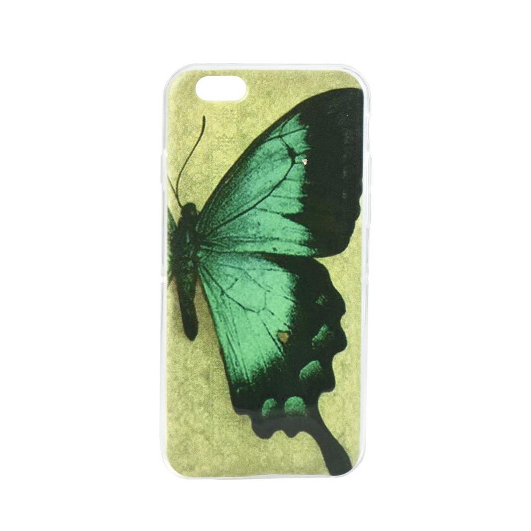 Чехол для Apple iPhone 6 back cover Butterfly gel Green