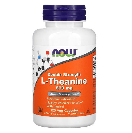 NF207Now Foods, L-теанин двойной силы, 200 мг, 120 вегетарианских капсул