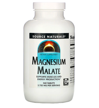 Source Naturals, малат магния, 3750 мг, 360 таблеток