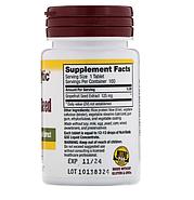 NutriBiotic, экстракт семян грейпфрута, 125 мг, 100 таблеток, фото 2