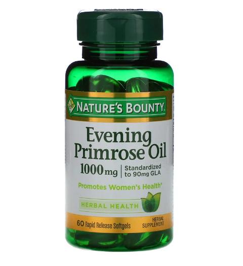 Nature's Bounty, Масло вечерней примулы, 1000 мг, 60 мягких капсул с быстрым высвобождением