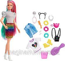 Кукла Барби Леопард Радужные волосы с аксессуарами