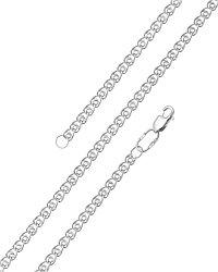 Цепь  серебро с родием, без вставок, лав 81030190045 размеры - 45