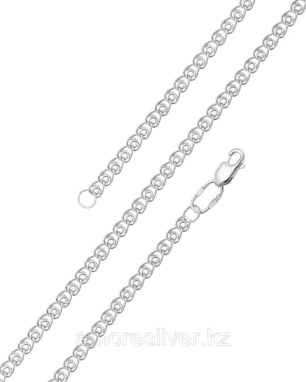 Цепь  серебро с родием, без вставок 81060480155 размеры - 55