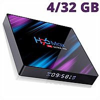 TV Box H96 MAX +  4/32 Гб , ТВ приставка Smart TV Box Android UHD 4K Rockchip RK3318 smartbox