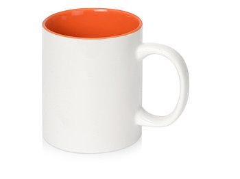 Кружка Sublime Color XL для сублимации 440мл, белый/оранжевый