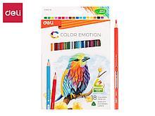 """Карандаши цветные Deli """"Color Emotion"""", 18 цветов, картон"""
