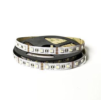 Лента светодиодная 5050 60/м 10мм, 12V, 1x5м, RGBW IP20 (кратно 5)
