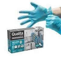 Перчатки антибактериальные Qualita, 100 шт (50) пар,M/L , Термопластический эластомер
