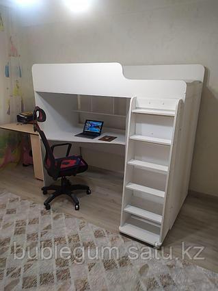 Кровать чердак детская Капризун , белый